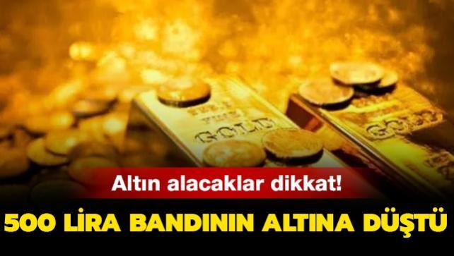 Gram altın 500 lira bandının altına düştü! İşte 30 Ekim altın fiyatlarındaki son dakika gelişmeleri!