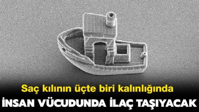 İnsan vücudunda ilaç taşıyacak, dünyanın en küçük teknesi üretildi