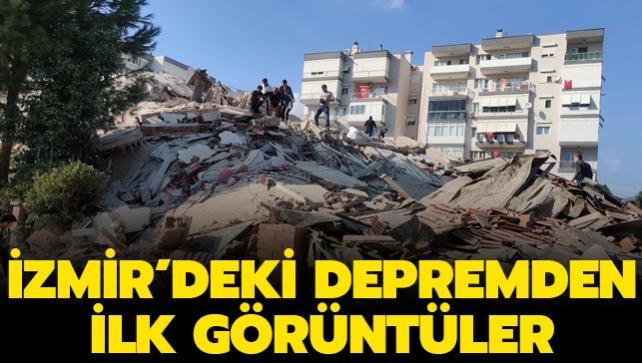 İzmir'de 6.6 büyüklüğünde deprem meydana geldi...