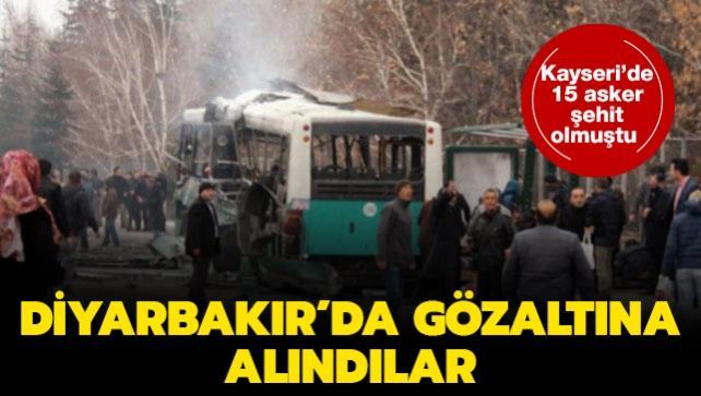 Kayseri'de 15 askerin şehit olduğu terör saldırısıyla ilgili 3 kişi gözaltına alındı