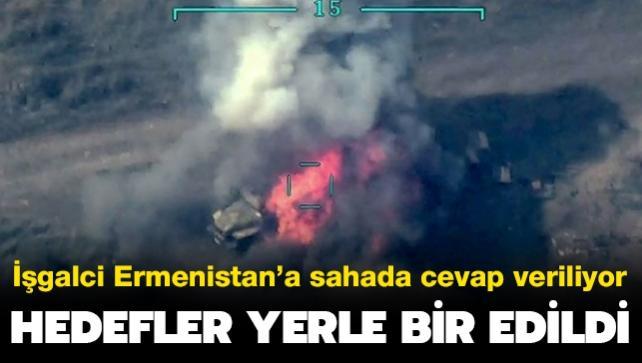 Azerbaycan'dan işgalci Ermenistan'a ağır darbe: Hedefler yerle bir edildi