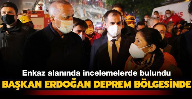 Başkan Erdoğan deprem bölgesi İzmir'de
