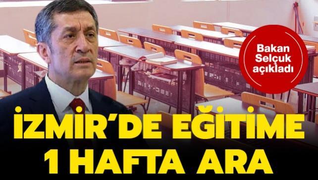 İzmir'deki 6.6'lık depremin ardından eğitime 1 hafta ara verildi