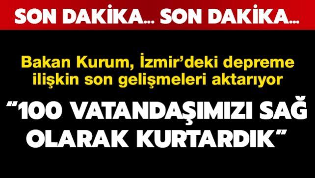 İzmir'deki depremle ilgili bakanlardan ortak açıklama
