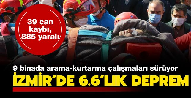Son dakika deprem haberleri: İzmir'de 6.6 büyüklüğünde deprem... 39 can kaybı, 885 yaralı var