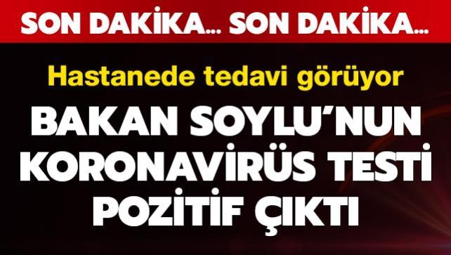 Bakan Soylu koronavirüs testinin pozitif çıktığını açıkladı