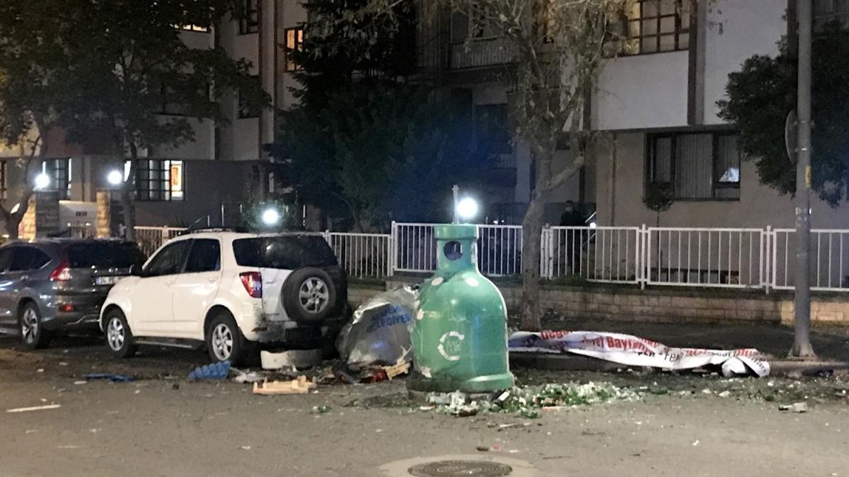 İstanbul Ataşehir'de çöp konteynerinde patlama