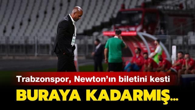 Trabzonspor'da Eddie Newton ile yollar ayrıldı