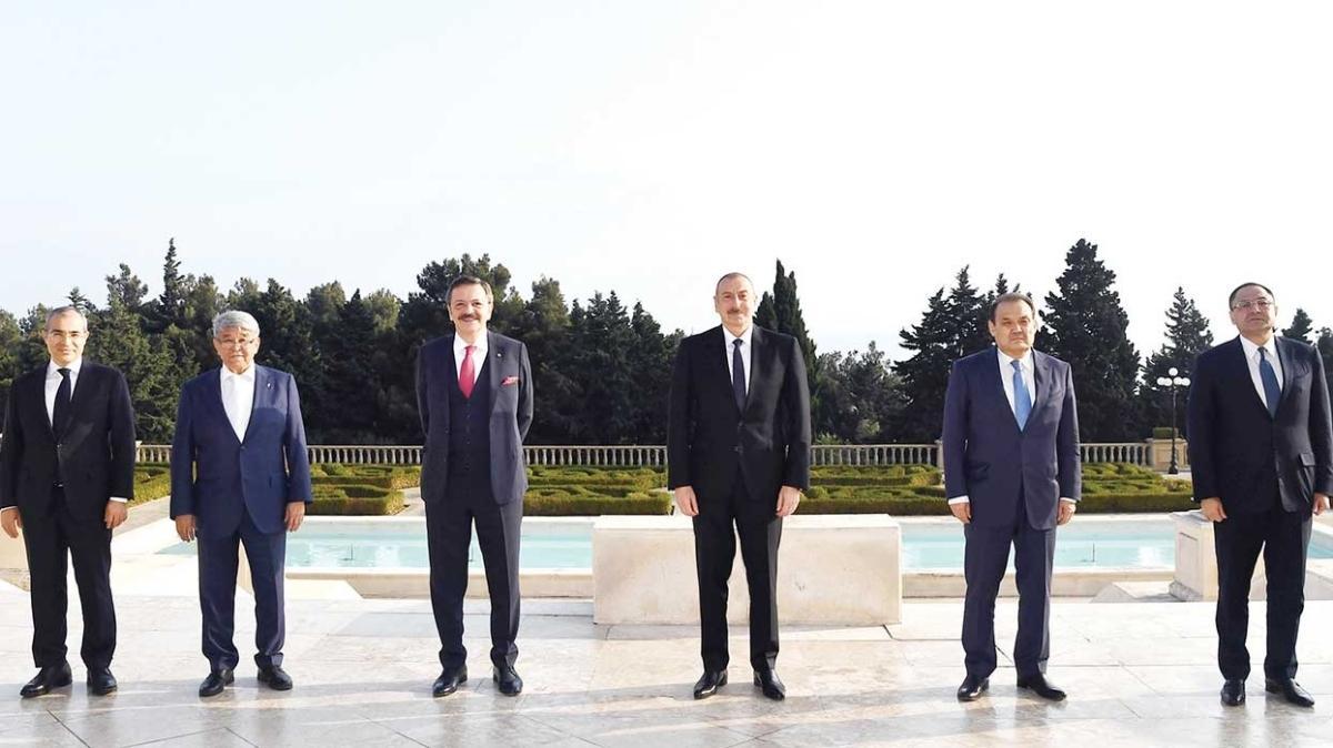 Türk iş dünyası Bakü'de... 'İşgalden kurtarılan bölgelere desteğe hazırız'