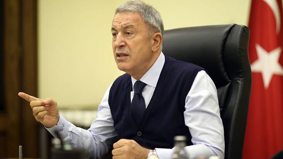 Bakan Akar'dan Doğu Akdeniz açıklaması: Hakkımızı yedirmedik, yedirmeyeceğiz