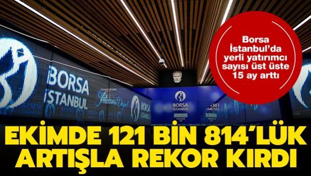 Borsa İstanbul'da yerli yatırımcı sayısı üst üste 15 ay arttı: Ekimde 121 bin 814'lük artışla rekor kırdı