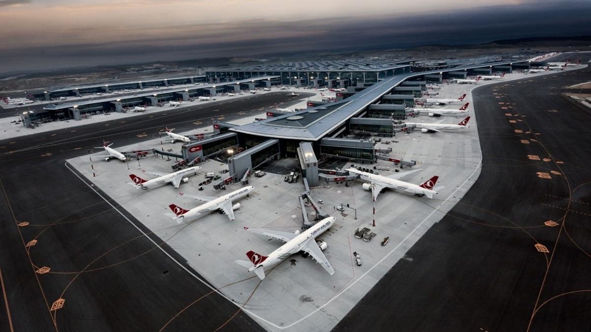 İstanbul Havalimanı Avrupa'da en yoğun üçüncü trafiğe sahip oldu