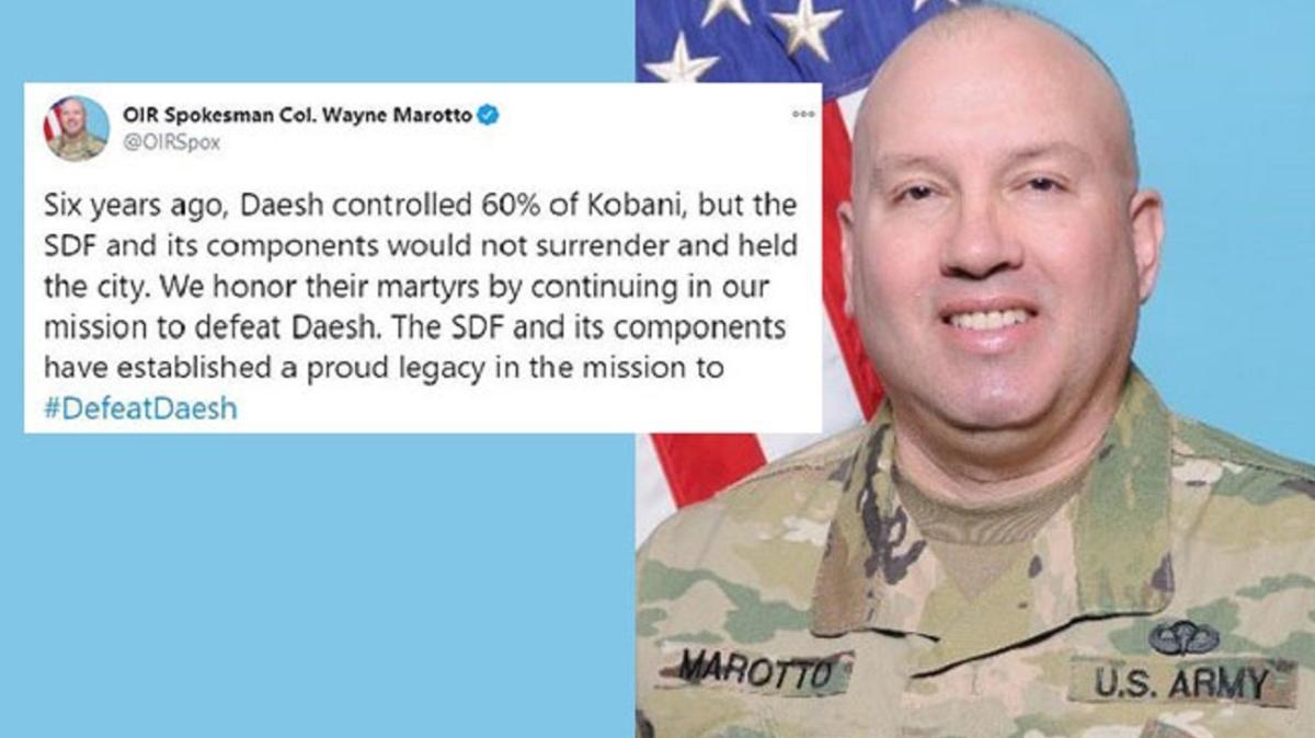 ABD'li komutandan küstah sözler... Terör örgütü SDG'ye övgüler yağdırdı