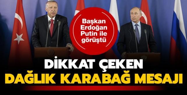 Başkan Erdoğan, Rusya Devlet Başkanı Putin ile görüştü