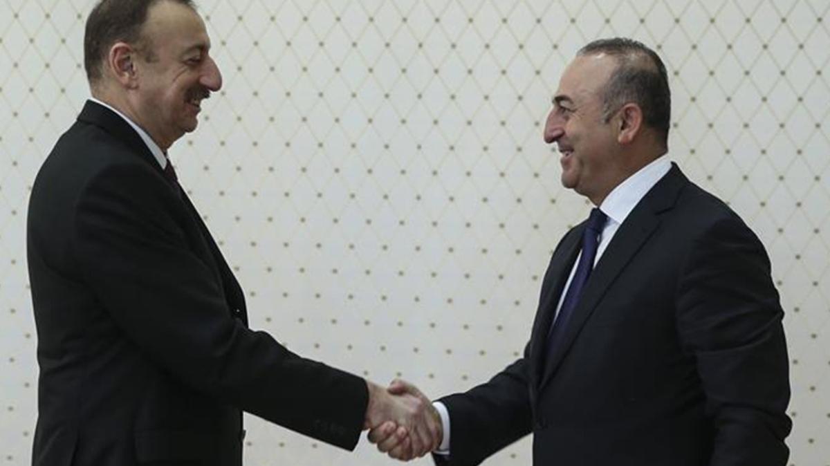 Çavuşoğlu ve Akar'dan Aliyev'e ziyaret