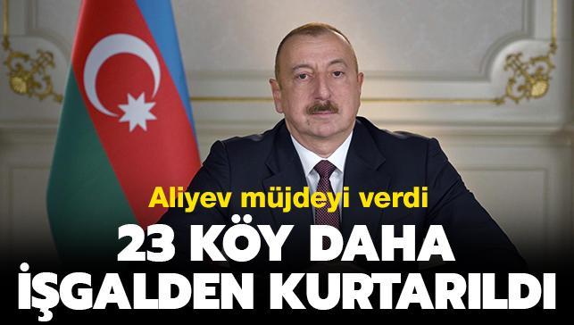 Azerbaycan ordusu 23 köyü daha işgalci Ermenistan'dan kurtardı