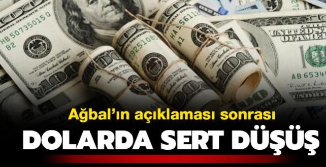 Merkez Bankası Başkanı Ağbal'ın açıklamasından sonra dolarda sert düşüş