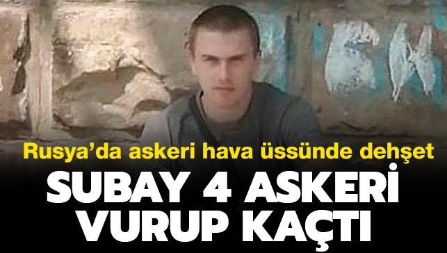 Rus subay bunalıma girdi: 4 silah arkadaşını vurdu