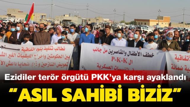 Sincar'ı hemen terk et! Ezidilerden PKK'ya büyük protesto
