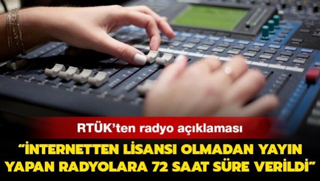 RTÜK'ten radyo açıklaması: İnternetten lisansı olmadan yayın yapan radyolara 72 saat süre verildi