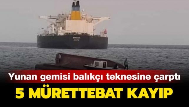 Adana'nın Karataş ilçesi açıklarında Yunan gemisi balıkçı teknesine çarptı: 5 mürettebattan 4'ü hayatını kaybetti