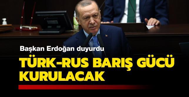 Başkan Erdoğan: Karabağ'da ortak barış gücü için mutabakat imzalandı