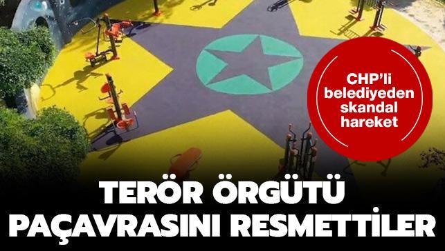 CHP'li Küçükçekmece Belediyesi çocuk parkına terör örgütü 'YPG/PKK' paçavrası resmetti