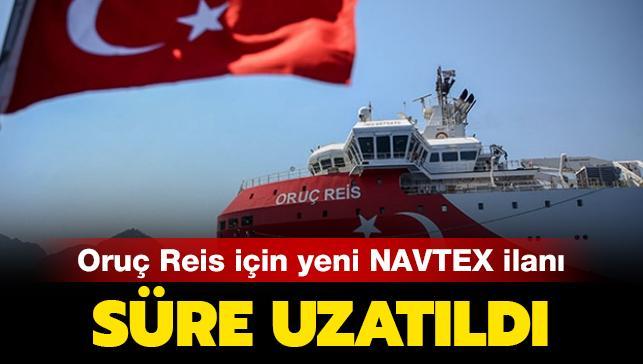 Oruç Reis için Türkiye'den yeni NAVTEX ilanı