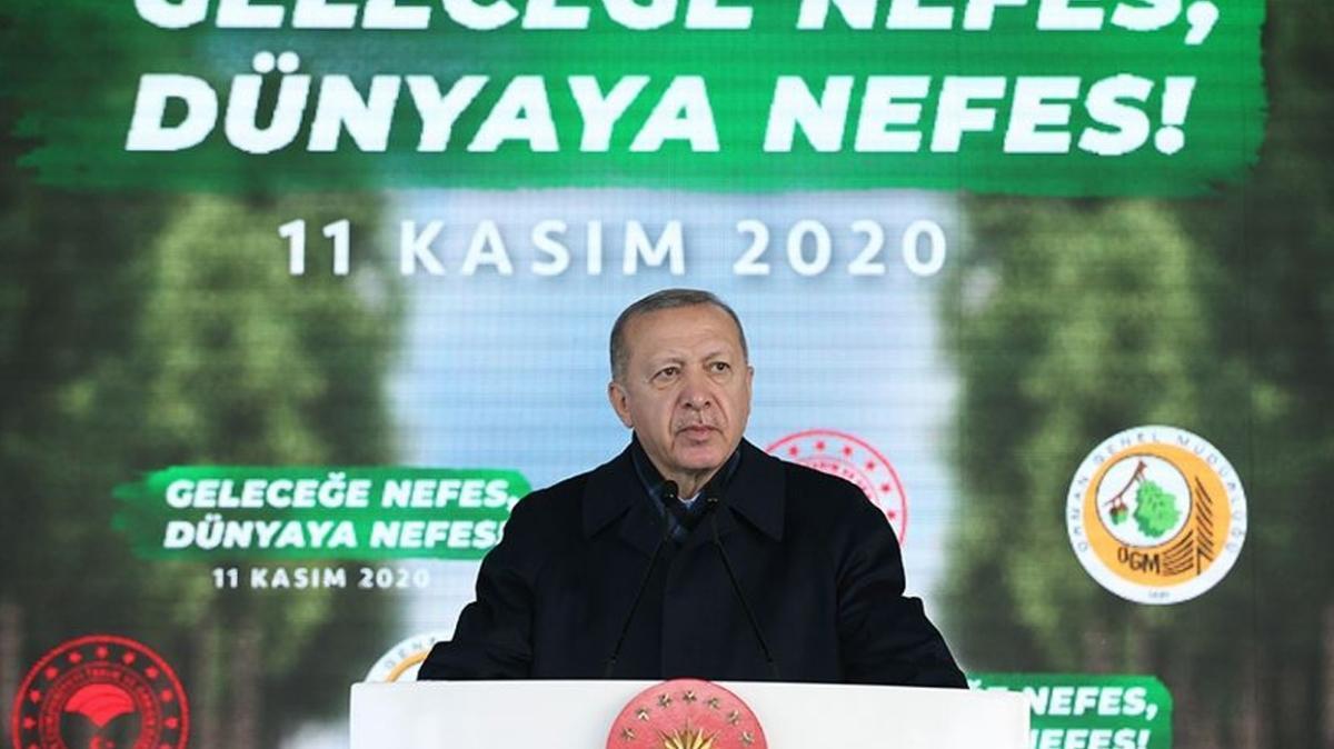 """Başkan Erdoğan Geleceğe Nefes, Dünyaya Nefes Programı'nda konuştu: """"Sahte çevrecilere aldırmadan çalışmaya devam ediyoruz"""""""