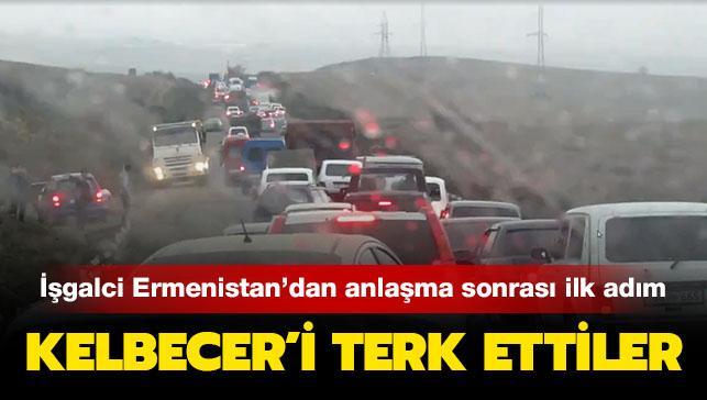 İşgalci Ermenistan ordusundan anlaşma sonrası ilk adım geldi: Kelbecer'i terk ettiler