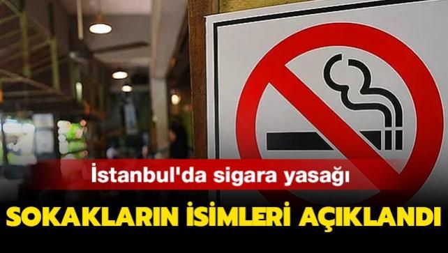 İstanbul'da sigara yasağı getirilen sokakların listesi açıklandı