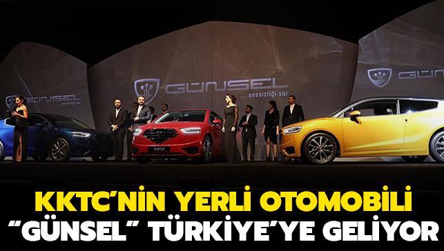 """KKTC'nin yerli otomobili """"Günsel"""" Türkiye'ye geliyor"""