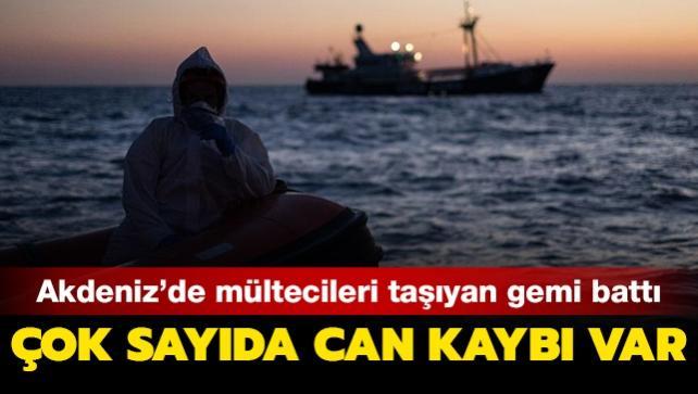 Libya açıklarında mültecileri taşıyan gemi battı... Çok sayıda ölü var