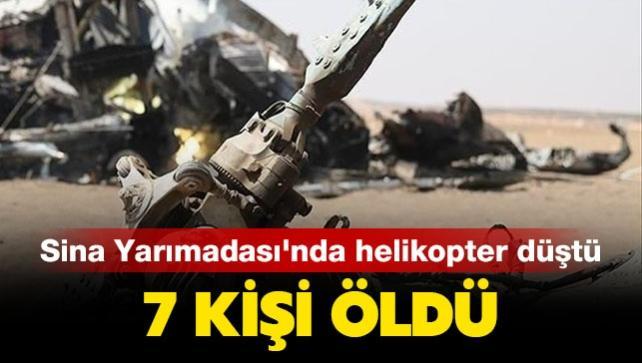 Sina Yarımadası'nda helikopter düştü: 7 kişi öldü