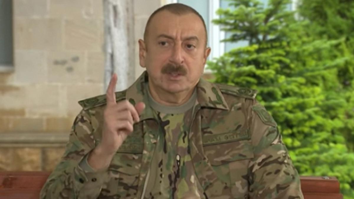 Aliyev: Ermenistan, Dağlık Karabağ'a verdiği zarar için tazminat ödeyecek