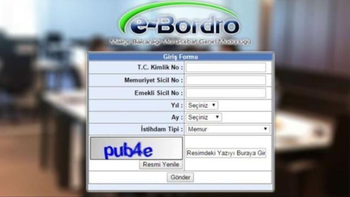 """Ebordro Kasım ayı memur maaşı tutarı ne kadar"""" E-bordro uygulaması memur maaşı sorgulama ekranı!"""