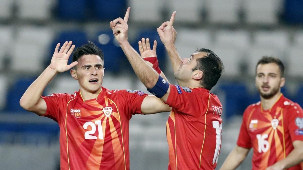 Kuzey Makedonya deplasmanda Gürcistan'ı 1-0 yenerek EURO 2020 biletini kaptı