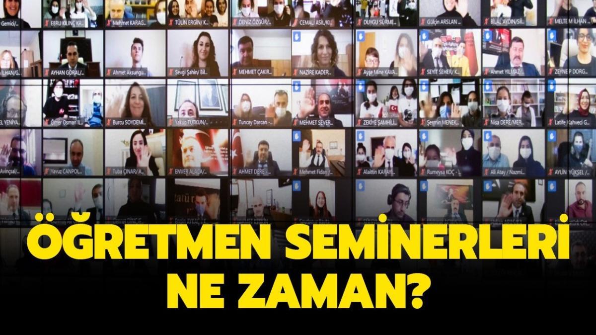 """2020 Kasım ara tatil öğretmen seminerleri online mı"""" Öğretmen seminerleri ne zaman başlayacak"""""""