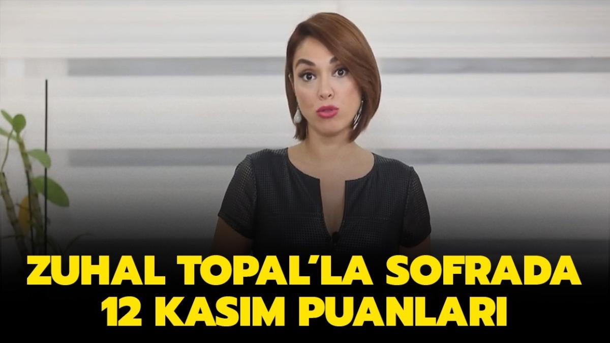 Zuhal Topal'la Sofrada 12 Kasım puan durumu tablosu belli oldu!