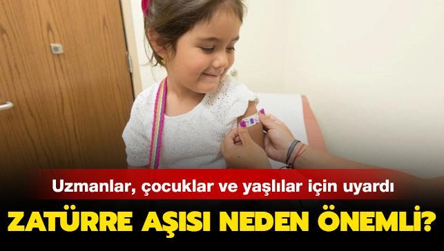 Zatürre aşısı özellikle çocuklar ve yaşlılar için önemli