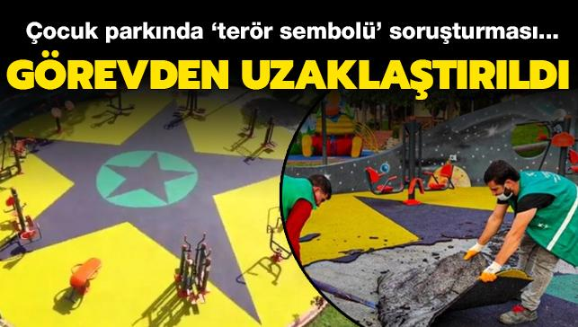Çocuk parkında 'terör sembolü' tartışmasında yeni gelişme: İki kişiye uzaklaştırma