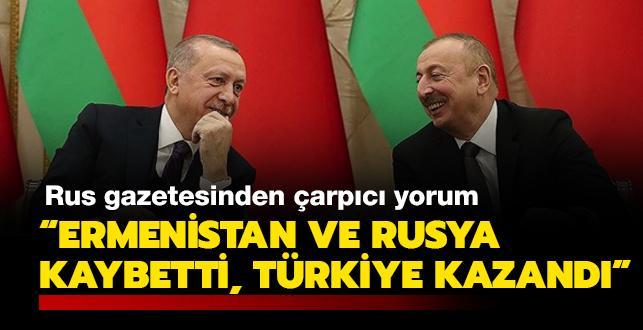 Rus gazetesinden çarpıcı yorum: Karabağ'da Ermenistan ve Rusya kaybetti, Türkiye kazandı