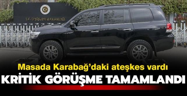 Masada Karabağ ateşkesi vardı: Türk ve Rus heyetlerin görüşmesi tamamlandı
