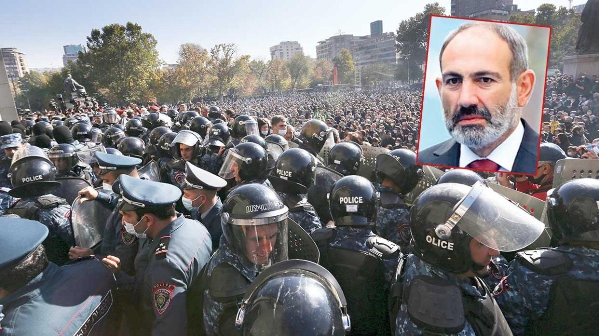 Erivan yangın yeri... 'Git artık Paşinyan!'