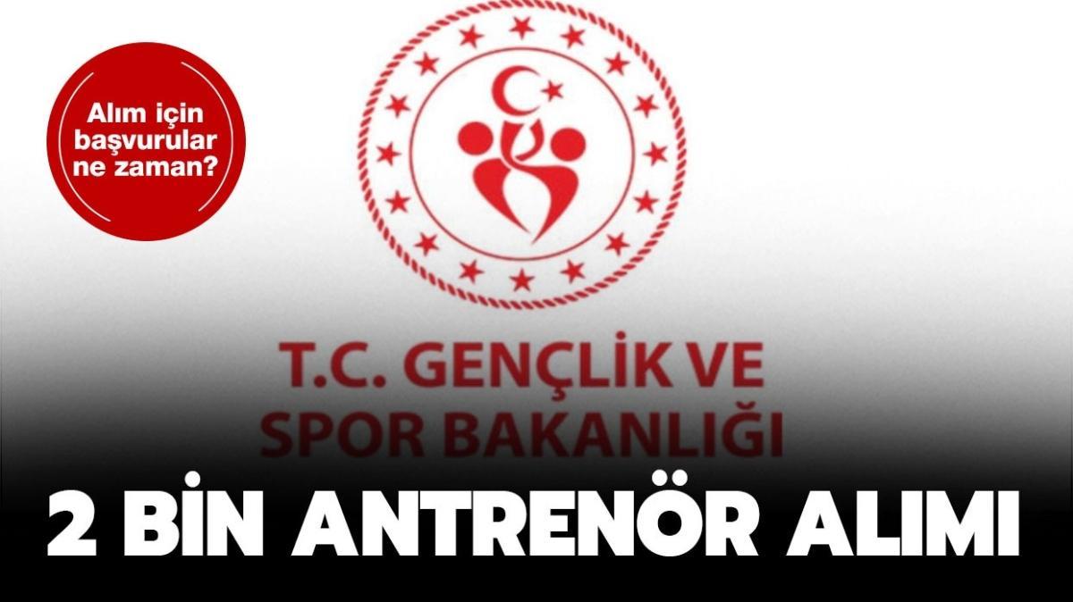 """Gençlik ve Spor Bakanlığı 2 bin yeni antrenör alıyor! Antrenör alımı şartları nelerdir"""""""