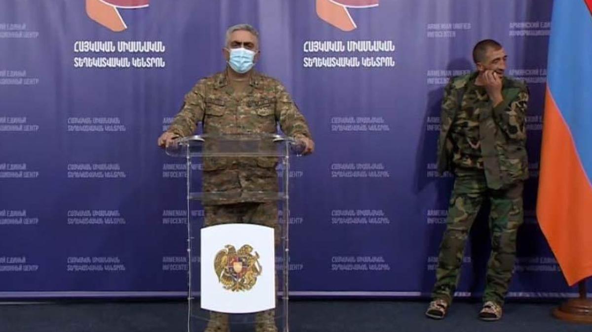 İşgalci Ermenistan'da flaş istifa: Savunma Bakanlığı Sözcüsü Hovhannisyan görevi bıraktı