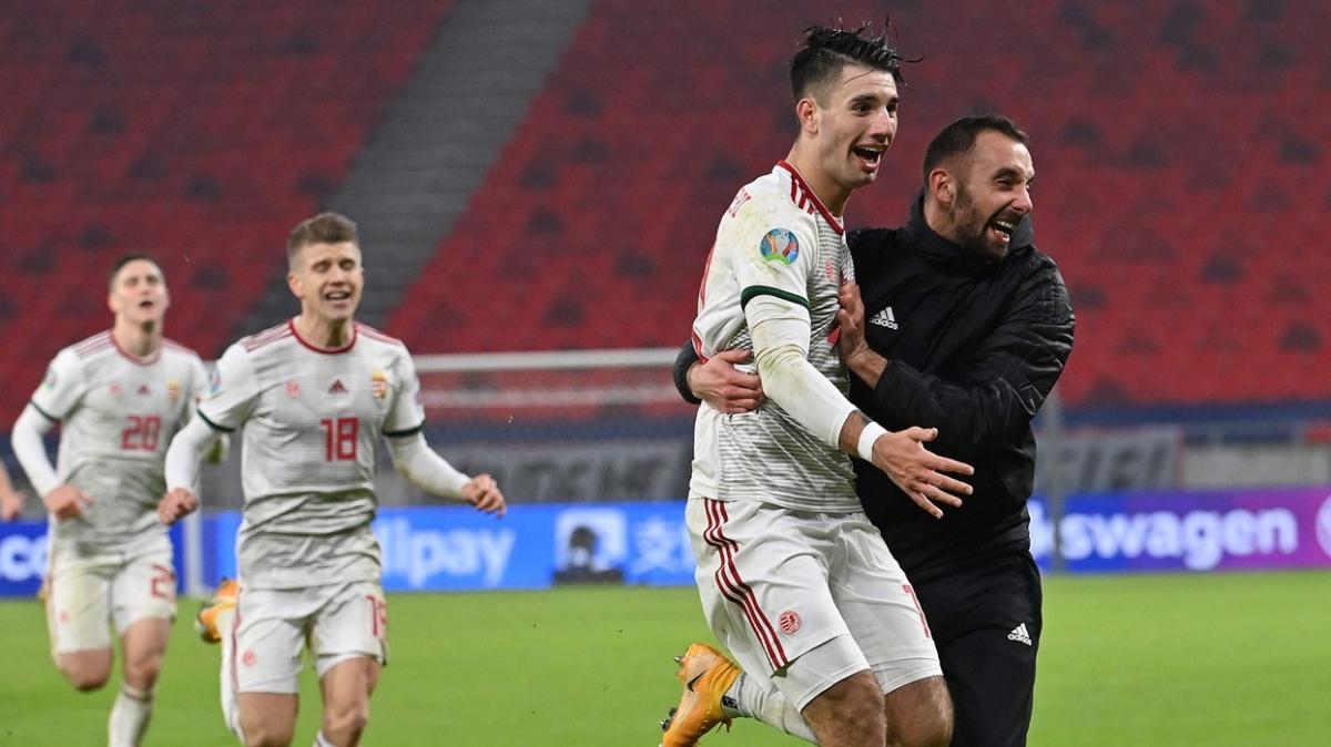 Macaristan 88 ve 90+2'de attığı gollerle EURO 2020 biletini kaptı