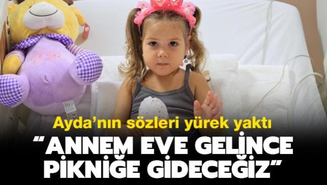 """İzmir depreminin mucize çocuğu Ayda'nın sözleri yürek yaktı: """"Annem eve gelince pikniğe gideceğiz"""""""