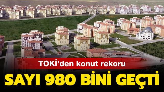 TOKİ'den konut rekoru: Sayı 980 bini geçti