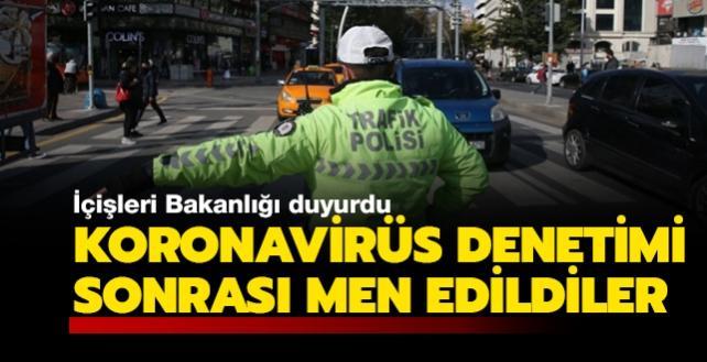 Koronavirüs denetimi sonrası 991 toplu ulaşım aracı/taksi seferden, 107 iş yeri faaliyetten men edildi